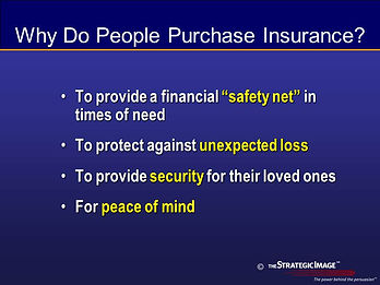Legal graphic suggesting why people buy insurance