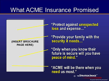 Legal graphic summarizing the promises of the insurance company