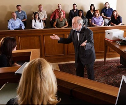 A lawyer delivers his Opening Statement to the jury.