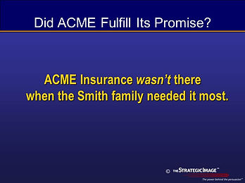 Legal graphic revealing the promise broken by the insurance company.
