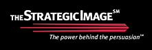 The Strategic Image logo and tag line: The power behind the persuasion.