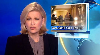 News anchor, Diane Sawyer, reporting on a story