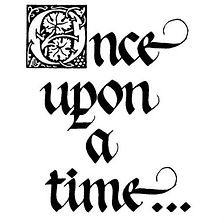 """A graphic of the words """"Once upon a time..."""" written in a flowing script"""