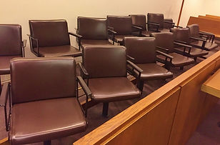 A jury box.