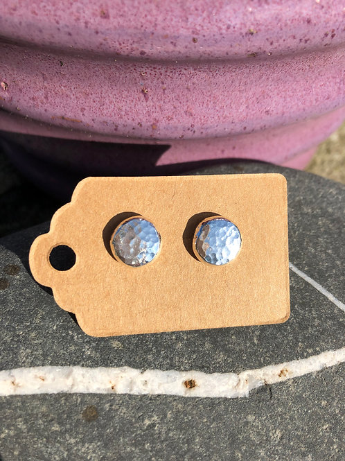 Hammered Pebble Studs