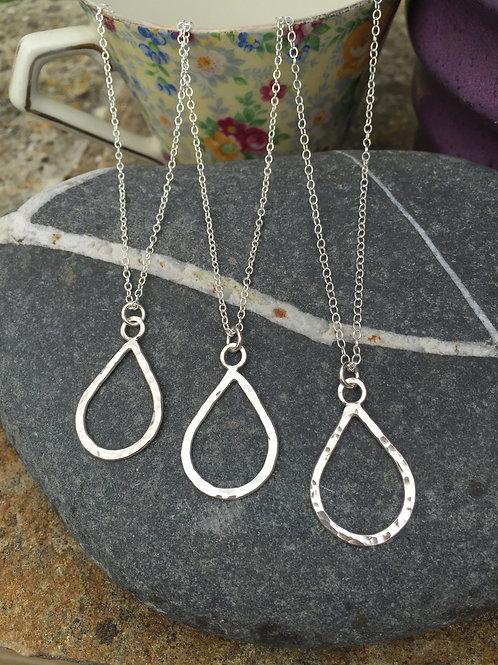 Wire Teardrop Necklace