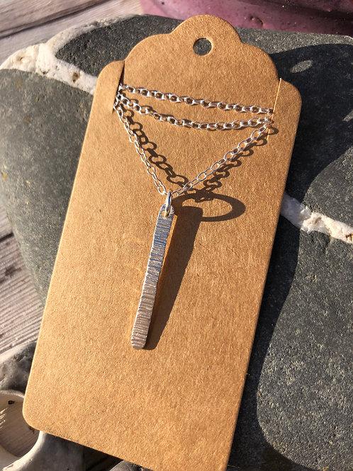 Line Hammered Necklace