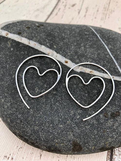Heart Thread Through Hoops