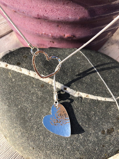 Thread Through Heart Necklace