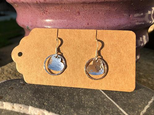 Heart and Hoop Earrings