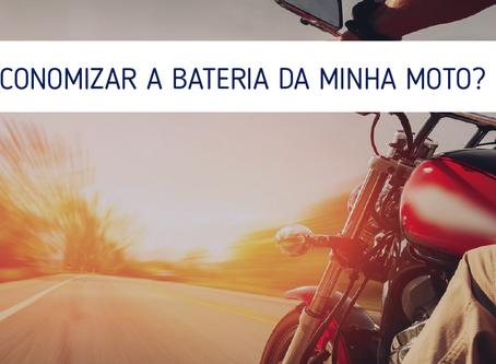 Como economizar a bateria da minha moto?