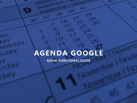 Nova funcionalidade: Integração com o Google Agenda