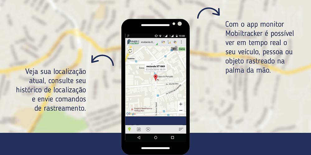 Funcionalidades do aplicativo monitor Mobiltracker