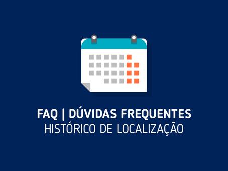 FAQ | Histórico de Localização