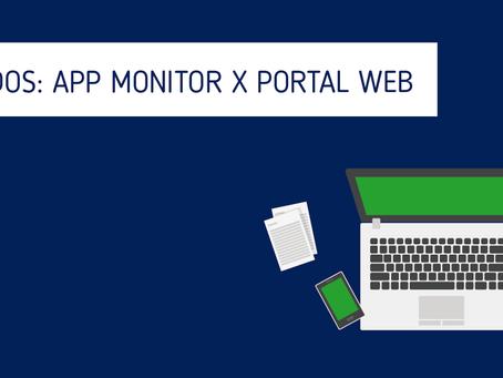 Envio de comandos: App Monitor X Portal Web