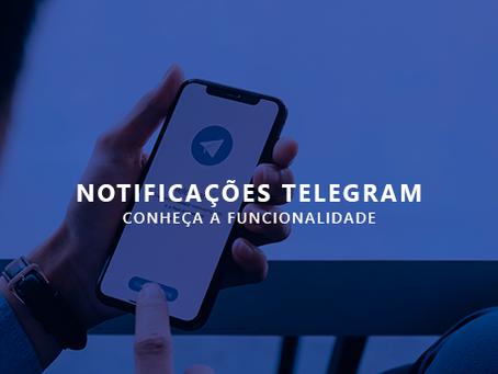 Novidade: Recebimento de notificações pelo Telegram