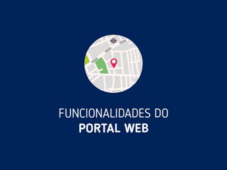Funcionalidades do Portal Web