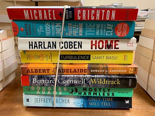 Crichton, Chabon, Coben, Basu, Anderson, Cornwell, Adams, Archer