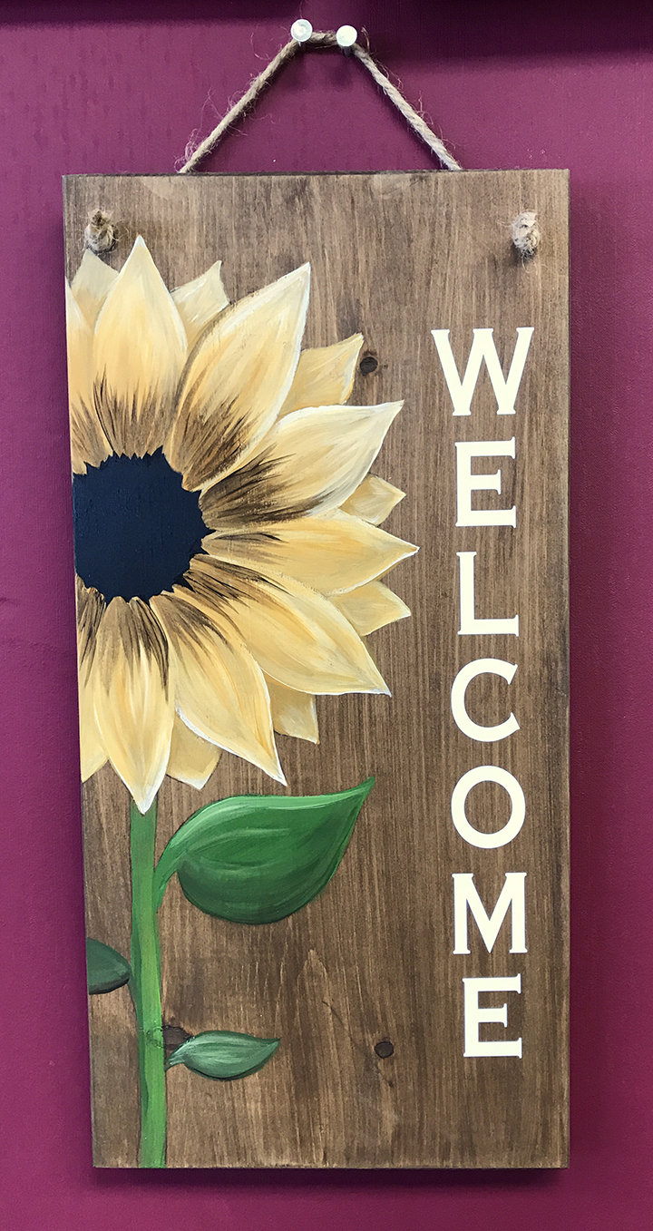 Sunflower Welcome - 10x19""