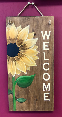 "Sunflower Welcome - 10x19"""