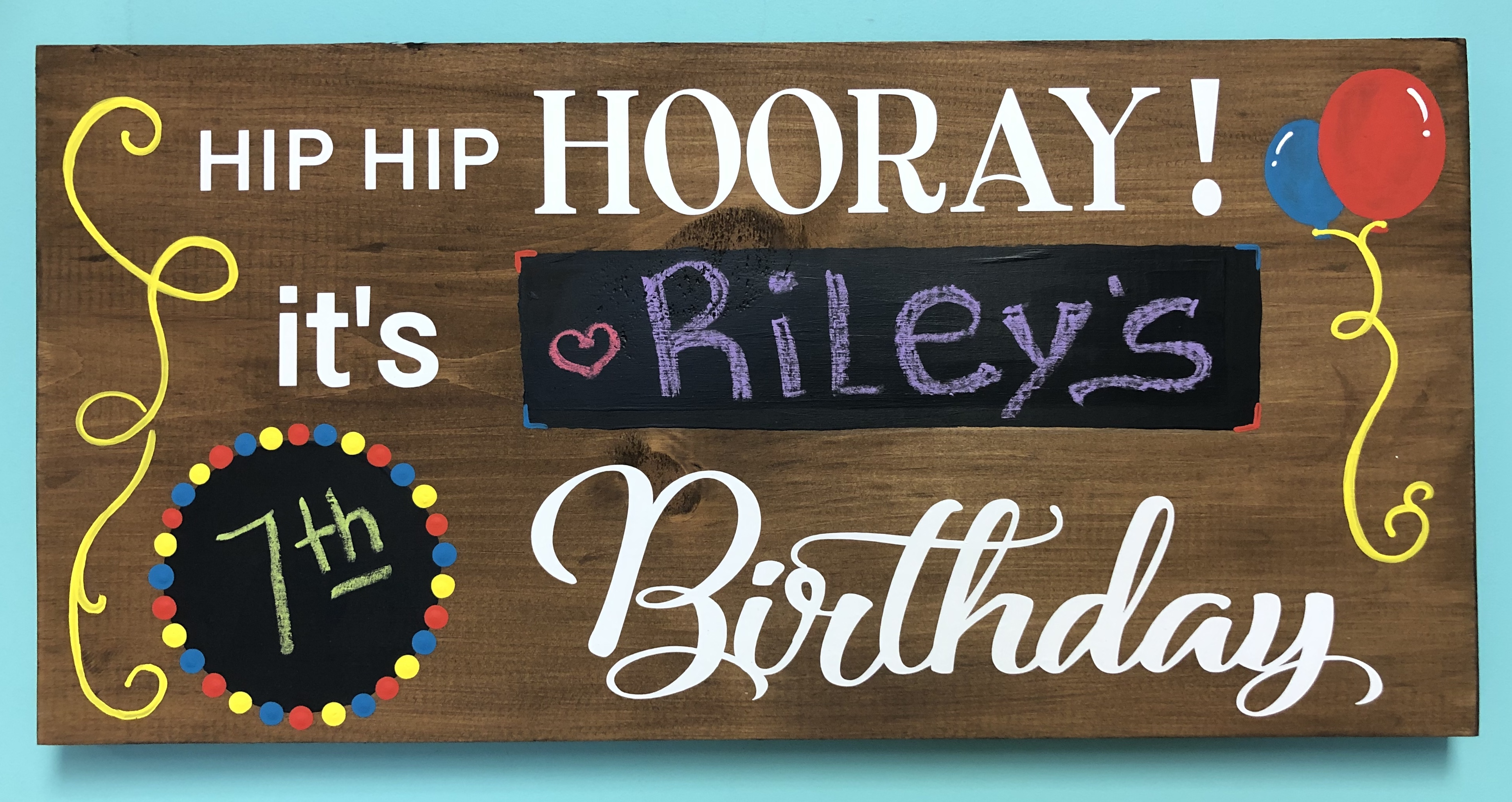 Birthday Wood Memory Sign