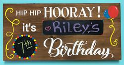 Birthday Wood Memory Sign