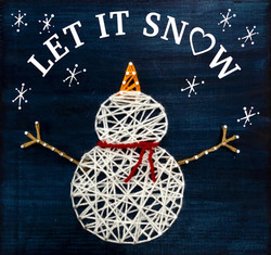 Snowman Wood String Art