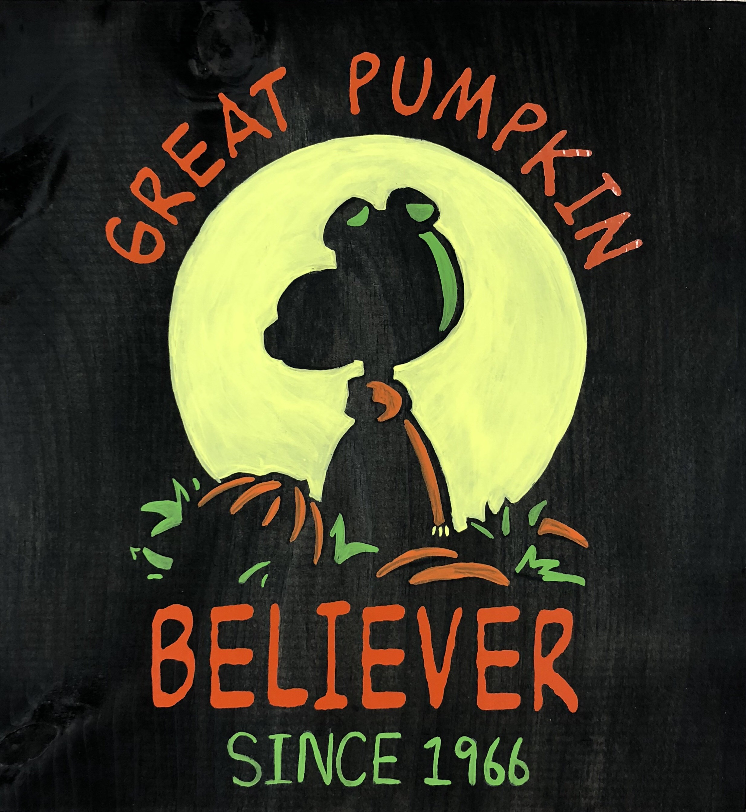 Great Pumpkin Wood Sign