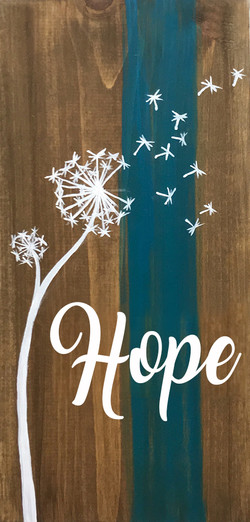 """Hope Wish - 10x19"""""""