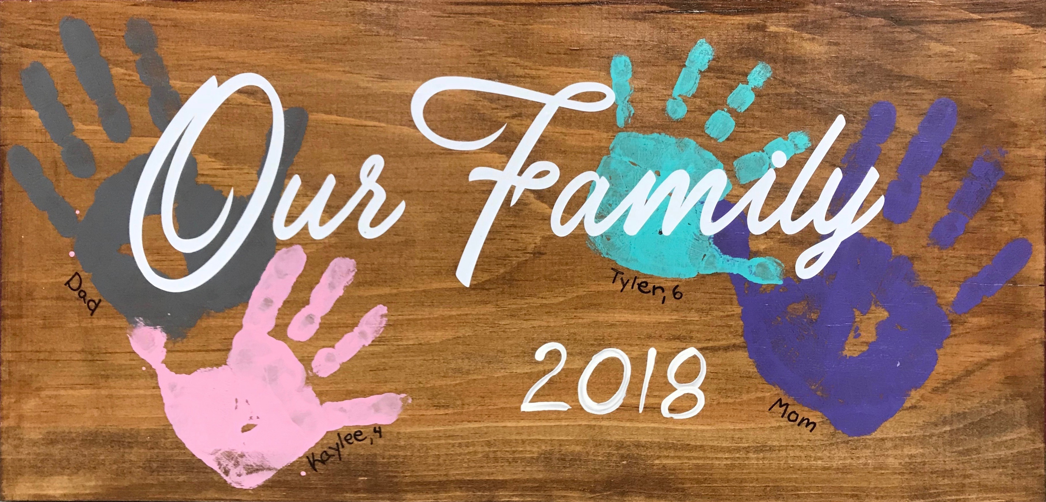 """Our Family Board - 10x19"""""""