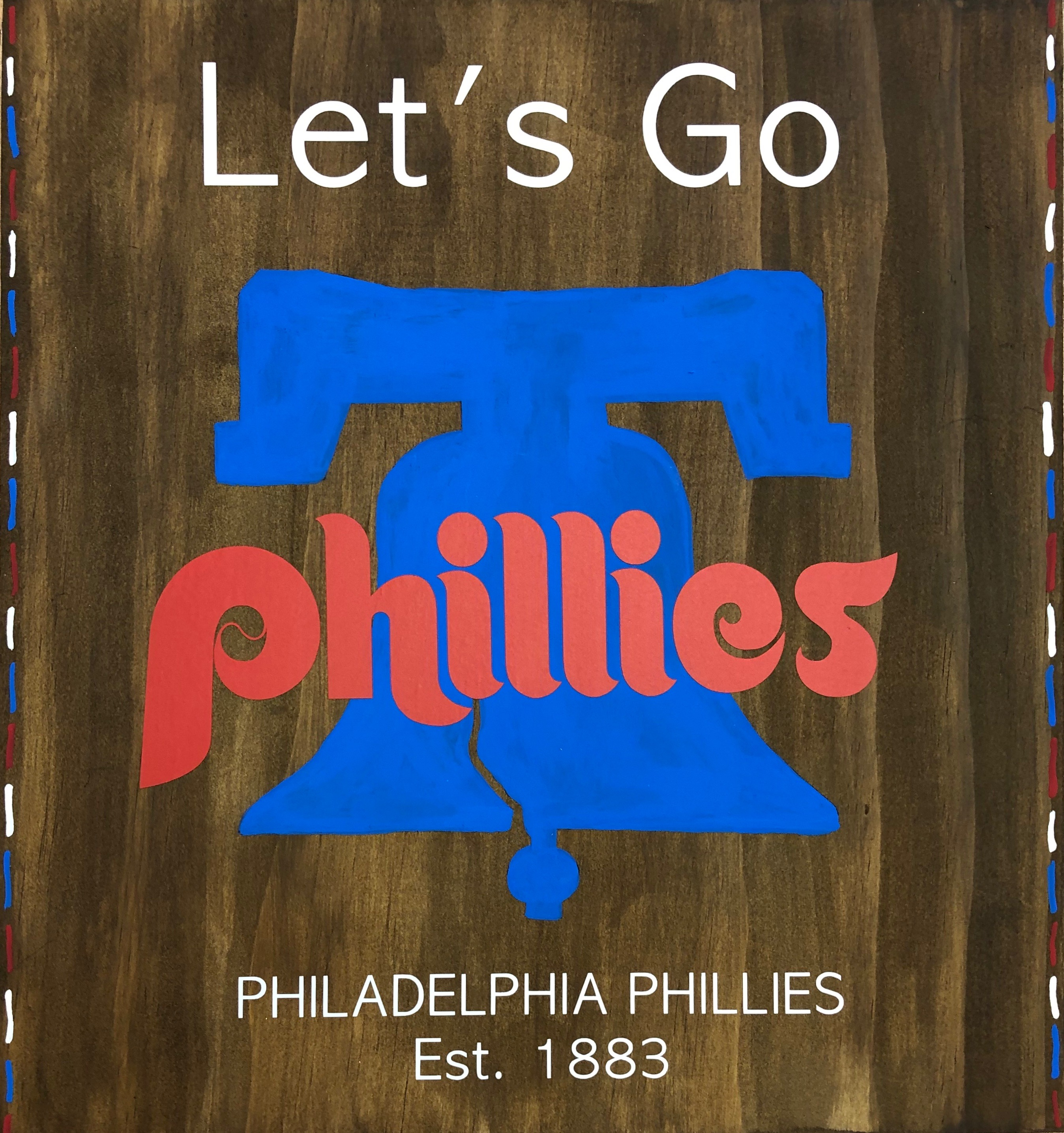 Phillies Wood Sign