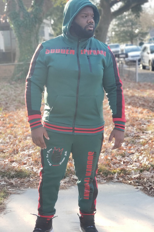 SE Crown Sweatsuit (Green/Red)