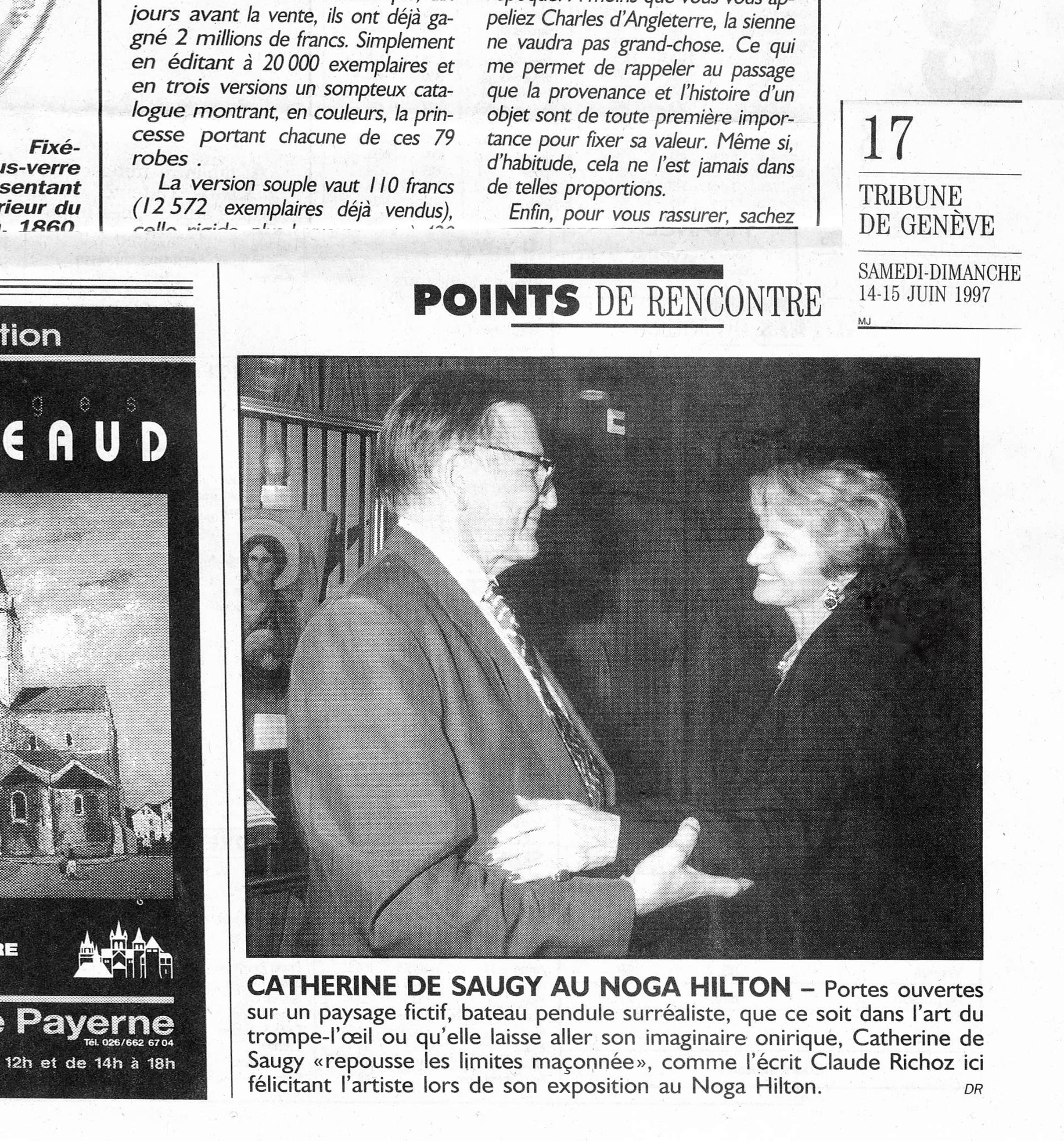 1997 Vernissage NOGA HILTON GENEVA Claude RICHOZ & CDS
