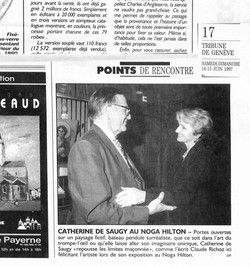 1997 Vernissage NOGA HILTON GENEVA Claude RICHOZ & CDS
