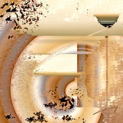 © Hiver dans mon Jardin  110 x 110 cm