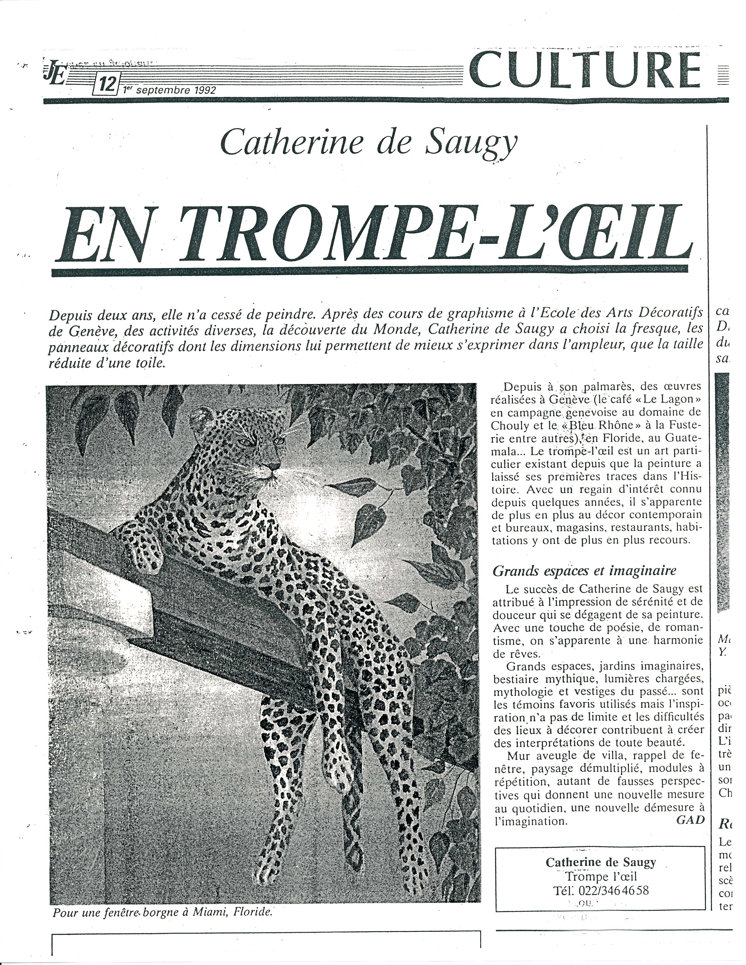 1992_L'EXTENSION_GENEVE_GAD_La_Panthère