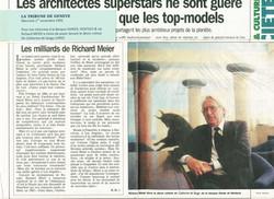 1995 TRIBUNE DE GENEVE  RICHARD MEIER & DARIER HENTSCH