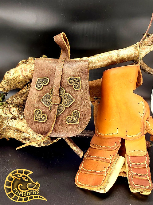 Gürteltasche Birka II braun bronze