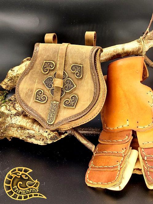 Gürteltasche Rus braun bronze
