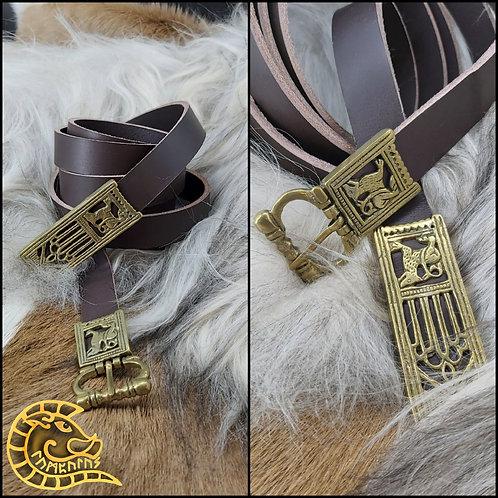 Langgürtel Löwe 20mm braun/Bronze