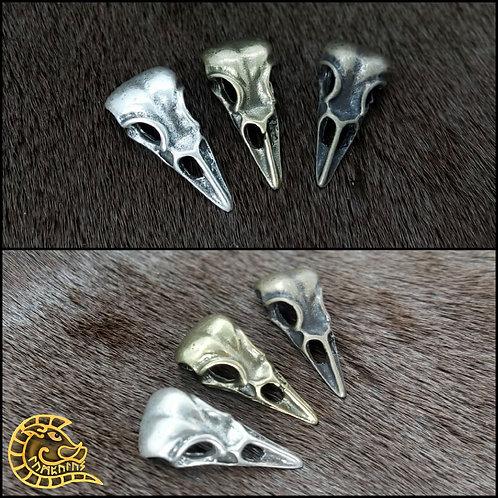 Kettenanhänger kleiner Rabenschädel