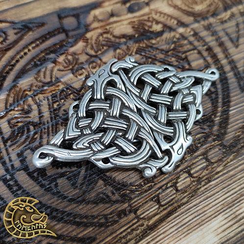 Gewandschließe Drache silber 85mm