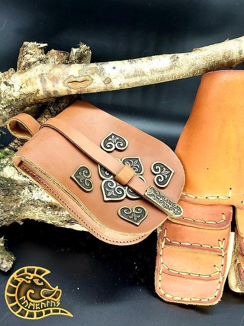 Gürteltasche Birka hellbraun bronze