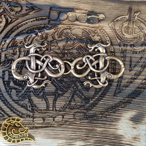 Gewandschließe Urnestier bronze 95mm