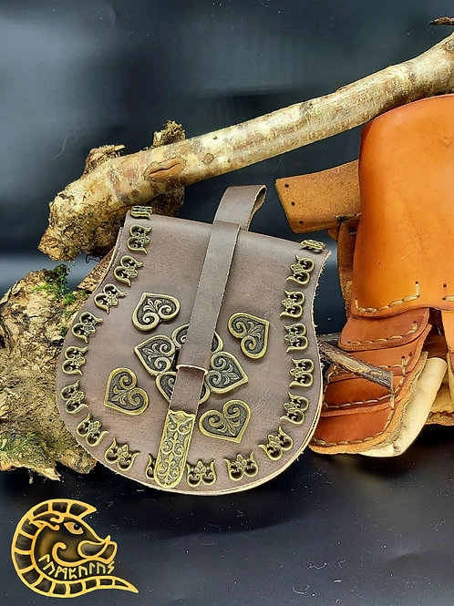 Gürteltasche Birka braun bronze