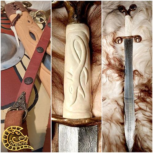 Keltenschwert mit Damastklinge