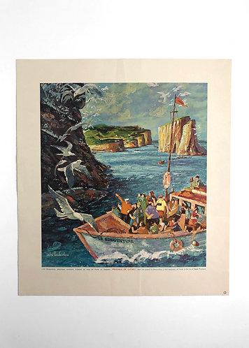 Trois Peintures du Québec Ministère du Tourisme André L'Archevèque