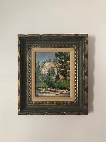 Peinture à l'huile paysage West Walker River par Lenore Beran