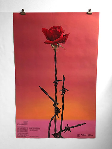 """Affiche """"A Rose without Thorns"""" papiers Rolland"""