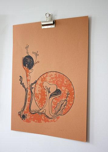 Ma Forêt - Sérigraphie Nicole F. 74'